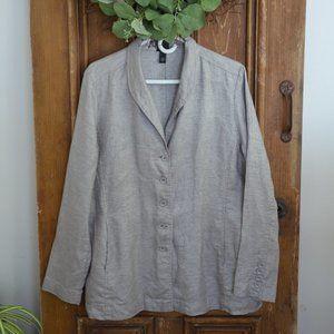 Eileen Fisher Sparkling Linen Blazer Size L